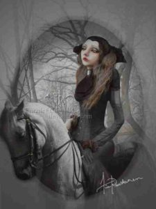 Riding at night like a Vampyre on Horseback.
